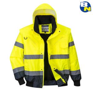 Abbigliamento Pro bomber bicolore alta visibilità giallo