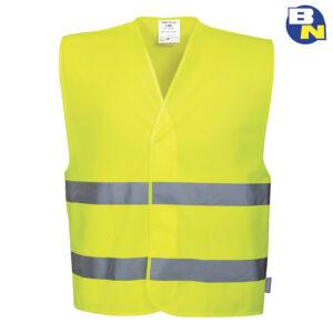 Abbigliamento-Pro-gilet-ad-alta-visibilità-con-due-bande-giallo