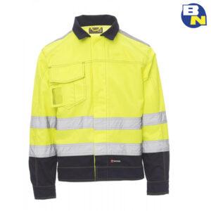 Abbigliamento-Pro-giubbino-ad-alta-visibilità-invernale-giallo
