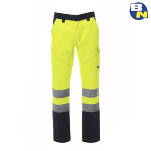 Abbigliamento-Pro-pantalone-bicolore-ad-alta-visibilità-invernale-giallo