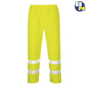 Abbigliamento-Pro-pantalone-impermeabile-alta-visibilità-giallo